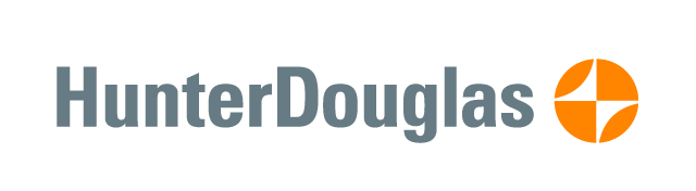 Hunter Douglas logo.